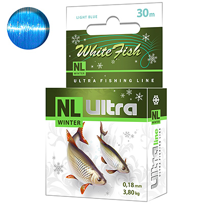 Леска зимняя NL ULTRA WHITE FISH (Белая рыба) 30m 0,18mm