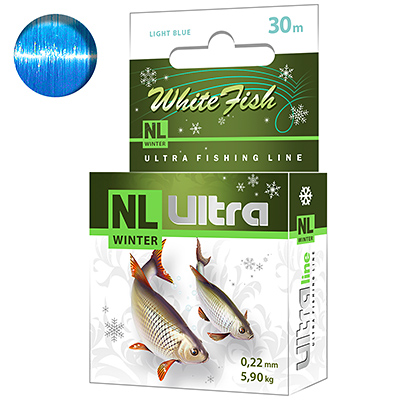 Леска зимняя NL ULTRA WHITE FISH (Белая рыба) 30m 0,22mm
