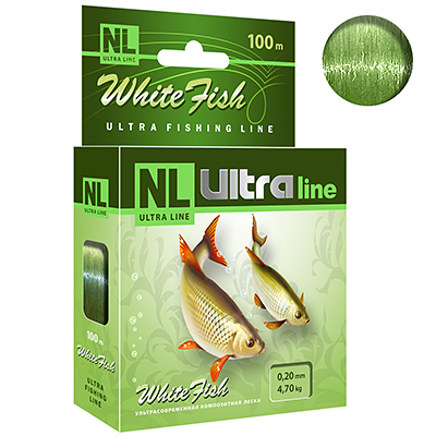 Леска NL ULTRA WHITE FISH (Белая рыба) 100m 0,20mm