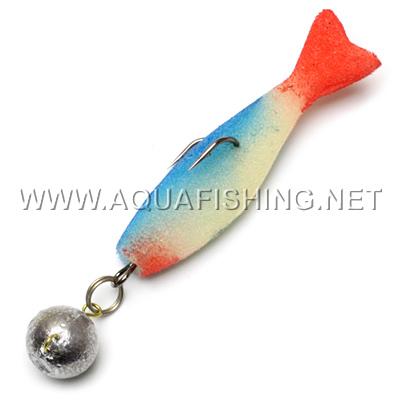поролоновая рыбка с твистером