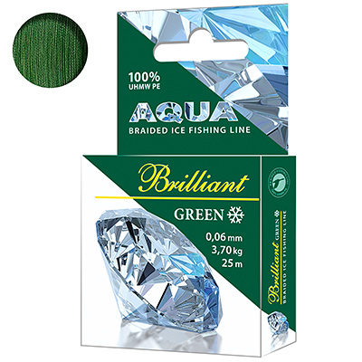 Плетеный шнур Green Brilliant зимний 0,06mm 25m