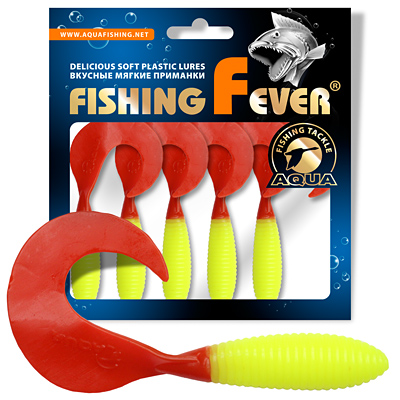 Твистер AQUA FishingFever ARGO 8,5сm, цвет 097 (4шт)